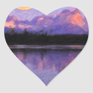 Lago Pehoe in Torres del Paine, Chile.jpg Heart Sticker