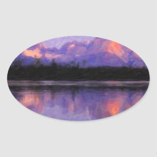 Lago Pehoe in Torres del Paine, Chile.jpg Oval Sticker