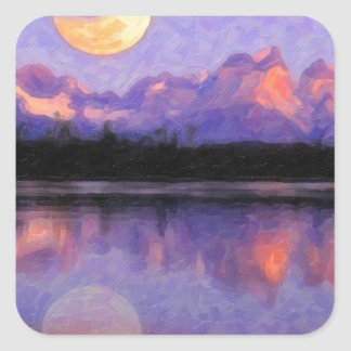 Lago Pehoe in Torres del Paine, Chile.jpg Square Sticker