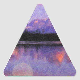 Lago Pehoe in Torres del Paine, Chile.jpg Triangle Sticker