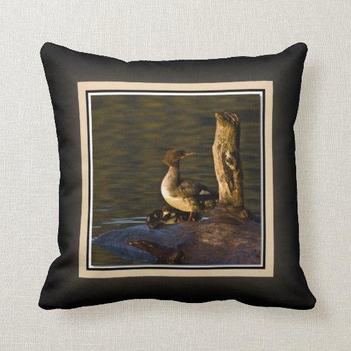 Lago perdido fowl del agua de la capilla del sopor almohada