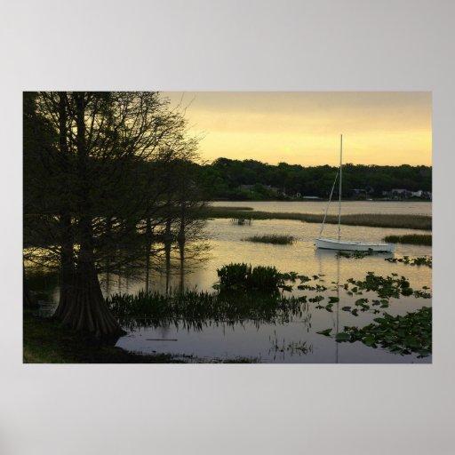 Lago perezoso poster