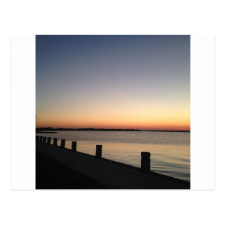 Lago perfecto sunset de la imagen postal
