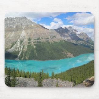 Lago Peyto en el parque nacional de Banff Tapete De Ratones