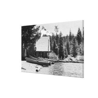 Lago PhotographDiamond de la casa de campo del lag Impresión En Lona