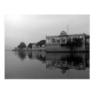 Lago Pichola Udaipur la India Tarjetas Postales