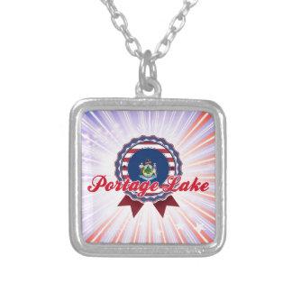 Lago Portage, YO Colgante Personalizado