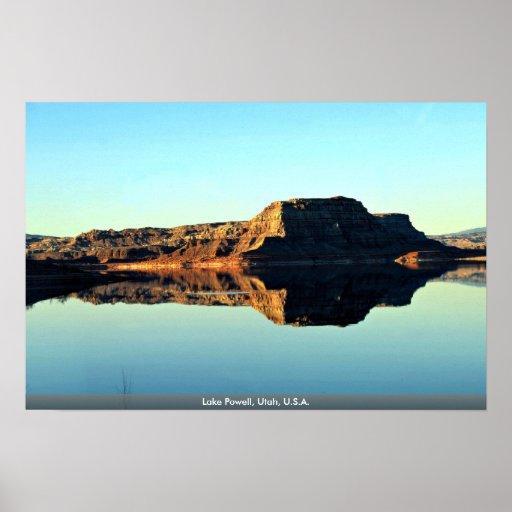 Lago Powell, Utah, los E.E.U.U. Impresiones