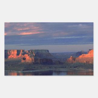 Lago Powell Utah Rectangular Pegatinas