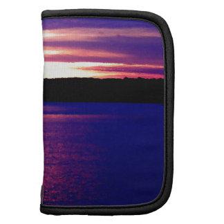 Lago púrpura azul sunset del lago camper de la gra organizadores