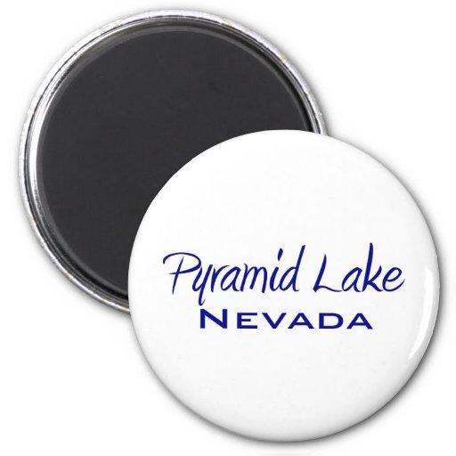 Lago pyramid imán de frigorífico