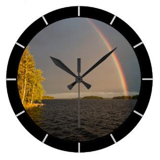Lago rainbow reloj redondo grande