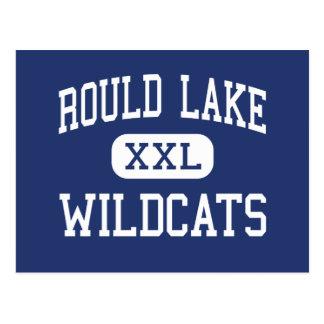 Lago redondo medio wildcats del lago Rould Tarjeta Postal