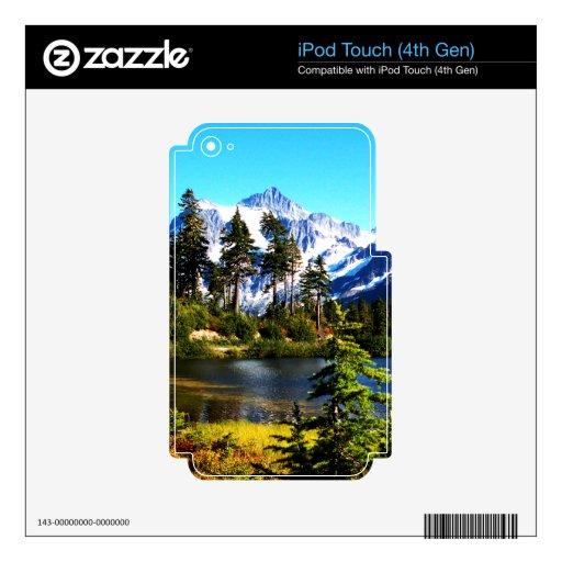 Lago reflection calcomanía para iPod touch 4G