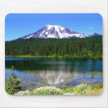 Lago reflection, el Monte Rainier, WA, los E.E.U.U Alfombrillas De Ratones