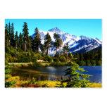 Lago reflection tarjeta de negocio