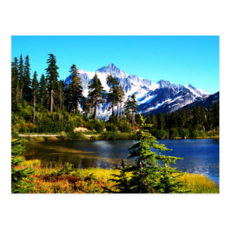 Lago reflection postal