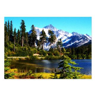 Lago reflection tarjetas de visita grandes