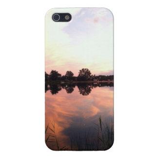 Lago reflector - cubierta del caso del iPhone 5 iPhone 5 Carcasas