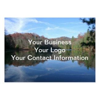 Lago reflejado mountain plantillas de tarjeta de negocio