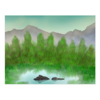 Lago relajante postal
