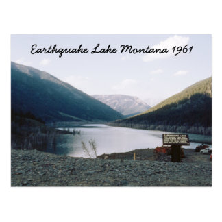 Lago retro Montana earthquake Postard 1961 Postal