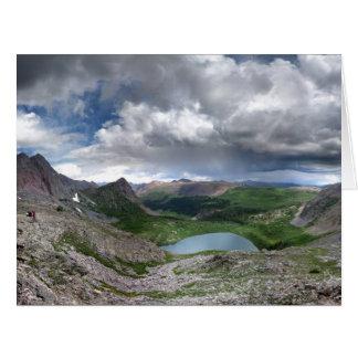 Lago rock - desierto de Weminuche - Colorado Tarjeta De Felicitación Grande