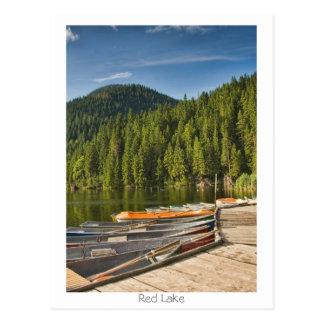 Lago rojo tarjetas postales