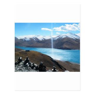 lago sagrado tarjeta postal
