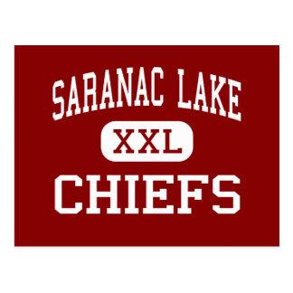 Lago Saranac - jefes - centro - lago Saranac Tarjetas Postales