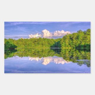 Lago Sesqui Pegatina Rectangular