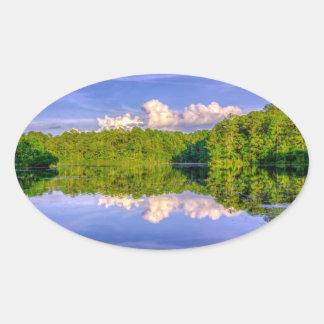 Lago Sesqui Pegatina Ovalada