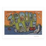 Lago spring, New Jersey - escenas grandes de la Postal