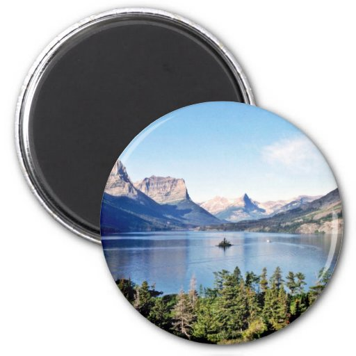 Lago st. Mary - Parque Nacional Glacier Imán Para Frigorifico