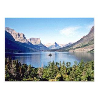 """Lago st. Mary - Parque Nacional Glacier Invitación 5"""" X 7"""""""