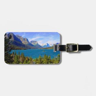 Lago st. Mary, Parque Nacional Glacier, Montana Etiqueta Para Equipaje