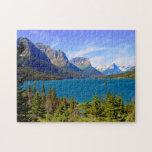 Lago st. Mary, Parque Nacional Glacier, Montana Puzzle Con Fotos