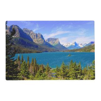Lago st. Mary, Parque Nacional Glacier, Montana Tapete Individual