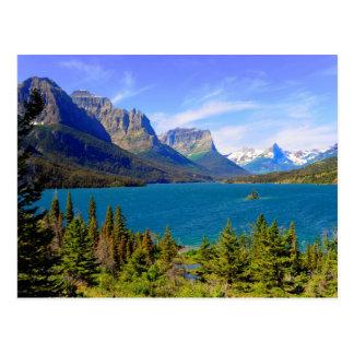Lago st. Mary, Parque Nacional Glacier, Montana Tarjeta Postal