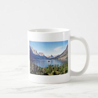 Lago st. Mary - Parque Nacional Glacier Taza Básica Blanca