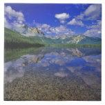 Lago stanley en las montañas del diente de sierra  azulejo cuadrado grande
