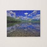 Lago stanley en las montañas del diente de sierra  puzzle con fotos