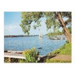 Lago summer del vintage postal