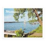 Lago summer del vintage tarjetas postales