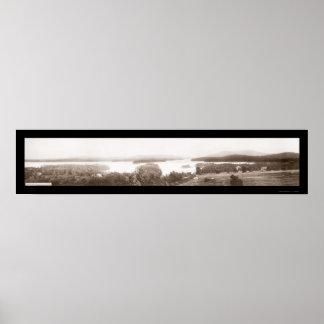 Lago Sunapee, foto 1908 del NH Póster