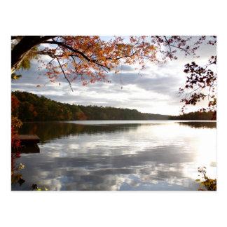 Lago sunset, Holly Springs NC Tarjetas Postales