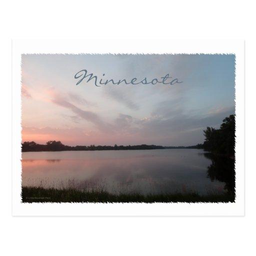 Lago sunset postal
