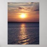 Lago sunset (vertical) poster