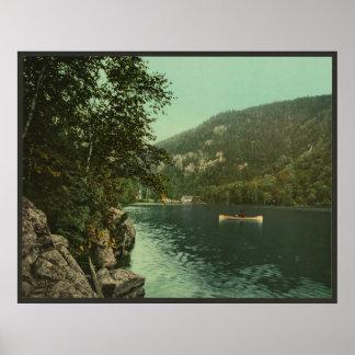Lago superior cascade, montañas de Adirondack Póster