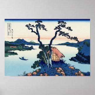 Lago Suwa en la provincia de Shinano Póster
